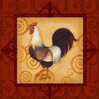 Decorative Rooster II Fine Art Print