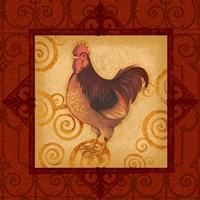 Decorative Rooster III Fine Art Print