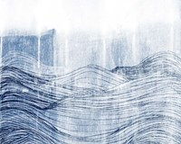 Indigo Waves II Fine Art Print