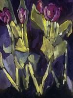 Violet Spring Flowers I Fine Art Print