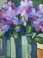 Violet Spring Flowers V Fine Art Print