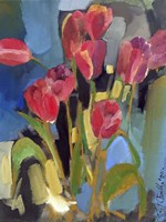 Painterly Tulips II Fine Art Print