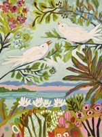 Birds in the Garden I Fine Art Print