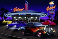 Diners and Cars VII Fine Art Print