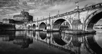 St Angelo Rome Black/White Fine Art Print