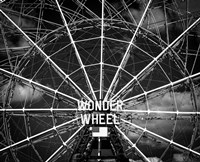 Wonder wheel  New York Black/White Fine Art Print