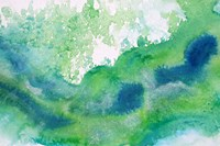 Green Waves Watercolor Abstract Splash 1 Framed Print