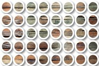 Industrial Mixed Media Circles 808-233 Fine Art Print
