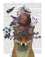 Fox Birdkeeper with Artichoke Fine Art Print