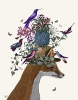 Fox Birdkeeper with Pineapple Fine Art Print