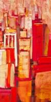 Pink City Sunrise II Framed Print