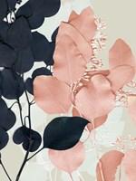 Indigo & Blush Leaves II Framed Print