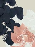 Indigo & Blush Leaves III Framed Print