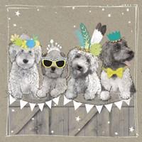 Fancypants Wacky Dogs III Fine Art Print