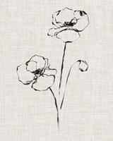 Floral Ink Study III Framed Print