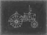 Tractor Blueprint II Framed Print