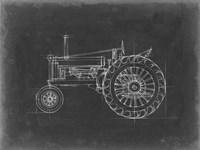 Tractor Blueprint IV Fine Art Print