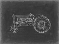 Tractor Blueprint I Framed Print