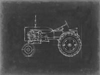 Tractor Blueprint III Framed Print