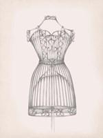 Antique Dress Form I Framed Print
