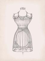 Antique Dress Form II Framed Print