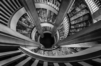 Royal Staircase 2 Black/White Fine Art Print