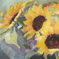 Sunflowers in Watercolor I Fine Art Print
