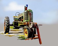 Vintage Tractor V Fine Art Print