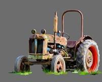 Vintage Tractor X Fine Art Print