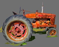 Vintage Tractor XI Fine Art Print