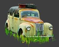 Rusty Car III Framed Print