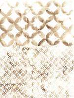 Sepia Madras IV Framed Print