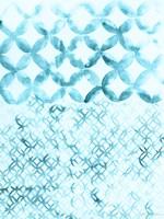 Teal Madras IV Framed Print