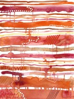 Tangerine Stripes II Fine Art Print