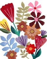 Bright Floral I Framed Print