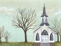 Country Church II Framed Print