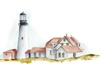 Ocean Beacon II Fine Art Print