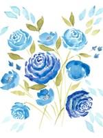 Cerulean Blooms I Fine Art Print