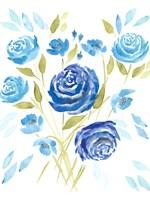 Cerulean Blooms II Fine Art Print