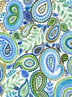 Blue & Green Paisley II Fine Art Print