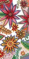 Flowering Garden Whimsy I Framed Print