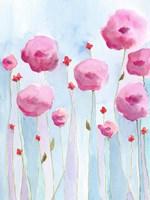 Pink Florets I Framed Print