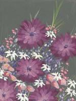 Mauve Wildflower Garden I Framed Print