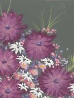 Mauve Wildflower Garden II Framed Print