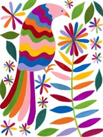 Otomi Bird IV Framed Print