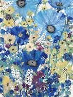 Garden Blues I Framed Print