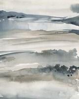 Foggy Horizon I Framed Print