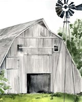 Weathered Barn II Fine Art Print