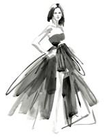 Gestural Evening Gown I Fine Art Print