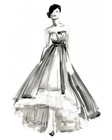 Gestural Evening Gown II Fine Art Print
